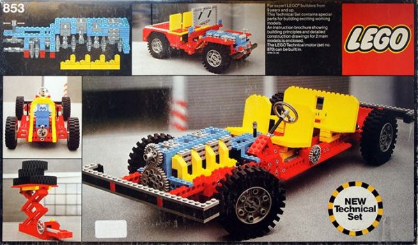 Lego Car Chassis 853